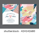 wedding invitation card | Shutterstock .eps vector #424142680