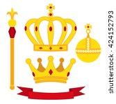 heraldic symbols  monarch set.... | Shutterstock .eps vector #424152793