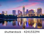 austin  texas  usa downtown... | Shutterstock . vector #424153294