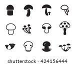 Vector Mushroom Icon Collectio...