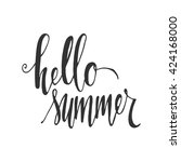 hello summer. modern... | Shutterstock .eps vector #424168000