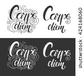 carpe diem. latin aphorism ... | Shutterstock .eps vector #424168060