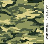 military background  camo... | Shutterstock .eps vector #424168144