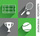 tennis icons | Shutterstock .eps vector #424169074