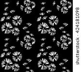 seamless pattern with doodle... | Shutterstock .eps vector #424181098
