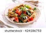 zucchini  chicken  tomato and... | Shutterstock . vector #424186753