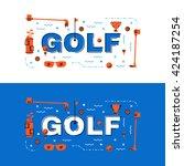 golf banner  golf lettering...   Shutterstock .eps vector #424187254