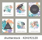 creative hand drawn backgrounds ... | Shutterstock .eps vector #424192120