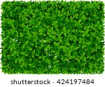leaf pattern and wallpaper ... | Shutterstock .eps vector #424197484