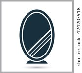 mirror icon on the background | Shutterstock .eps vector #424207918
