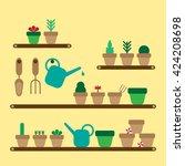 in the garden   Shutterstock .eps vector #424208698