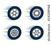 auto car speed tire wheel | Shutterstock .eps vector #424208968