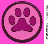 paw icon in paw background.... | Shutterstock .eps vector #424214203