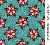 seamless pattern with... | Shutterstock .eps vector #424218760