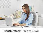 financial concept. make money... | Shutterstock . vector #424218763