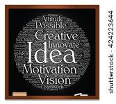 concept or conceptual abstract... | Shutterstock . vector #424223644