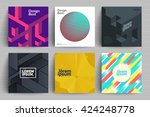 set of backgrounds with trendy... | Shutterstock .eps vector #424248778