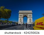 paris  france   sep 25  2015  ... | Shutterstock . vector #424250026
