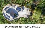 abandoned soviet gas mask on...   Shutterstock . vector #424259119