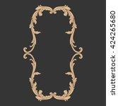 vintage baroque ornament. retro ... | Shutterstock .eps vector #424265680
