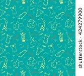 cute seamless vector pattern... | Shutterstock .eps vector #424279900