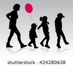 family together silhouettes | Shutterstock .eps vector #424280638