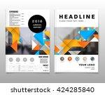 geometric vector backgrounds... | Shutterstock .eps vector #424285840
