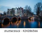 evening in amsterdam | Shutterstock . vector #424286566