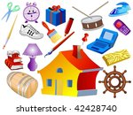 collection of objects | Shutterstock .eps vector #42428740