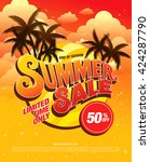 summer sale template banner | Shutterstock .eps vector #424287790