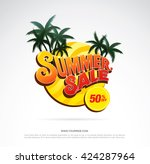 summer sale template banner | Shutterstock .eps vector #424287964