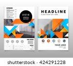 geometric vector background.... | Shutterstock .eps vector #424291228