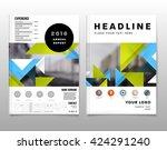 geometric vector background.... | Shutterstock .eps vector #424291240