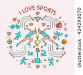 i love the sport. sports... | Shutterstock .eps vector #424293070