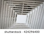 Small photo of Dust out from Air Duct, Danger and the cause of pneumonia in office man.