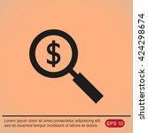 looking for money  | Shutterstock .eps vector #424298674