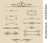 a set of frames  ornaments... | Shutterstock .eps vector #424302364