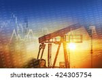 crude oil and energy companies...   Shutterstock . vector #424305754