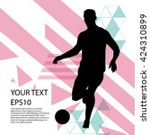 soccer player with football... | Shutterstock .eps vector #424310899