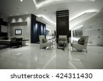 luxury lobby interior.with... | Shutterstock . vector #424311430