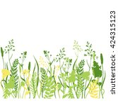 vector nature background with ... | Shutterstock .eps vector #424315123