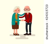 grandma and grandpa together... | Shutterstock .eps vector #424315723