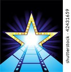 fame star at the end of film... | Shutterstock .eps vector #42431659