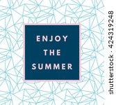 summer hipster boho chic... | Shutterstock .eps vector #424319248