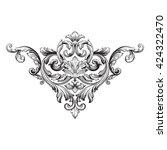 vintage baroque ornament. retro ... | Shutterstock .eps vector #424322470