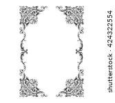 vintage baroque ornament. retro ... | Shutterstock .eps vector #424322554