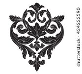 vintage baroque ornament. retro ... | Shutterstock .eps vector #424322590