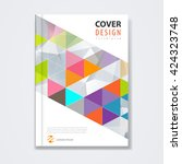cover template  brochure... | Shutterstock .eps vector #424323748