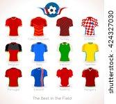 france euro 2016.soccer jersey... | Shutterstock .eps vector #424327030