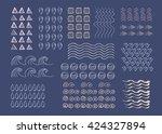 hand drawn vector texture ... | Shutterstock .eps vector #424327894